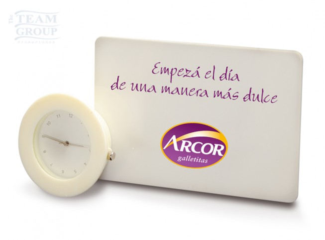 Reloj card clock productos promocionales originales