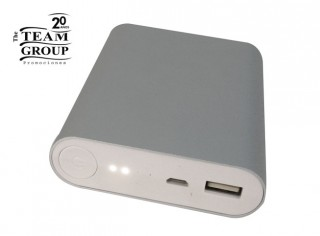 Power Bank Aluminio con Linterna LED 5200 Mah