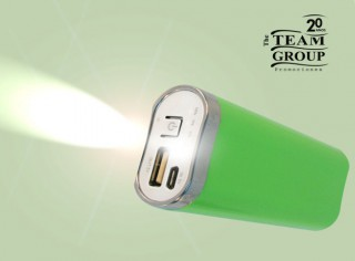 Power Bank Verde con Linterna